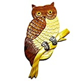 Coastal Wood Factory Handmade Art Intarsia Wooden Wall Plaque – Owl(102) For Sale
