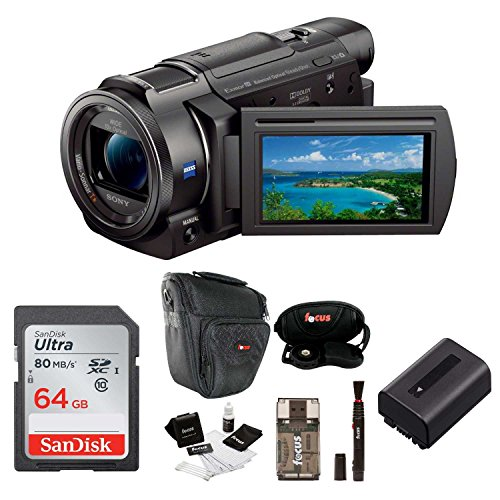 Sony FDR-AX33 4K Camcorder with 64GB Deluxe Accessory Bundle -  ASONFDRAX33BK1