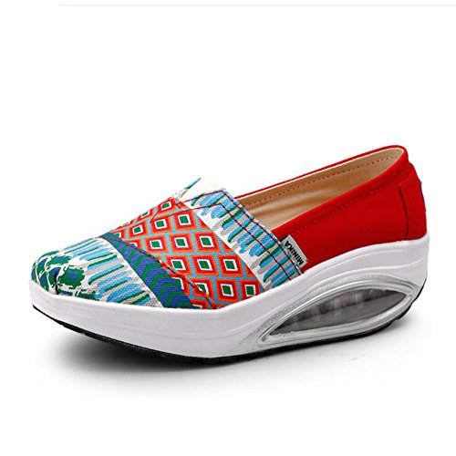 XUE Women's Shoes Canvas Spring Fall Loafers & Slip-Ons Driving Shoes Fitness Shake Shoes Shake Shoes Shaking Shoes Flat Loafers Sneakers Athletic Shoes Platform Shoes (Color : A, Size : 37) A