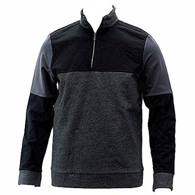 Calvin Klein Men's Dressy Refined Black Quarter Zip Long Sleeve Sweatshirt