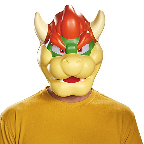 Bowser Costumes For Adults - Disguise Men's Bowser Costume Mask -