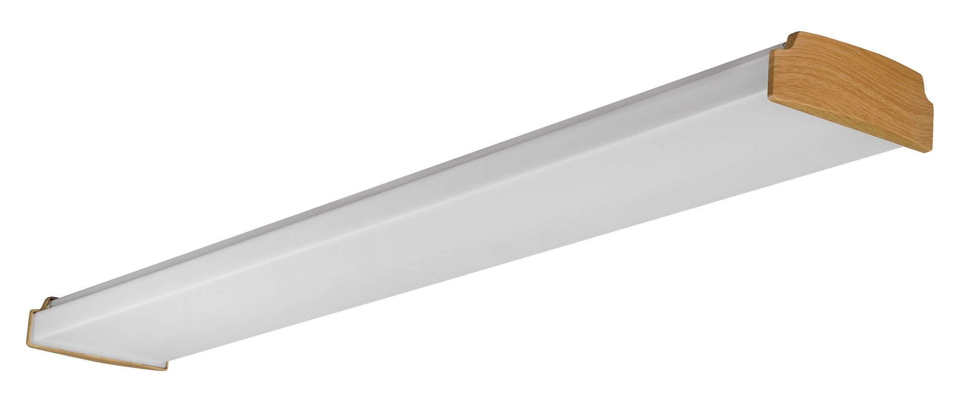 Lighting by AFX LW232LKR8 Low Profile 2-32 Watt T8 Wrap Light Fixture, Lancaster Oak with White Acrylic Diffuser