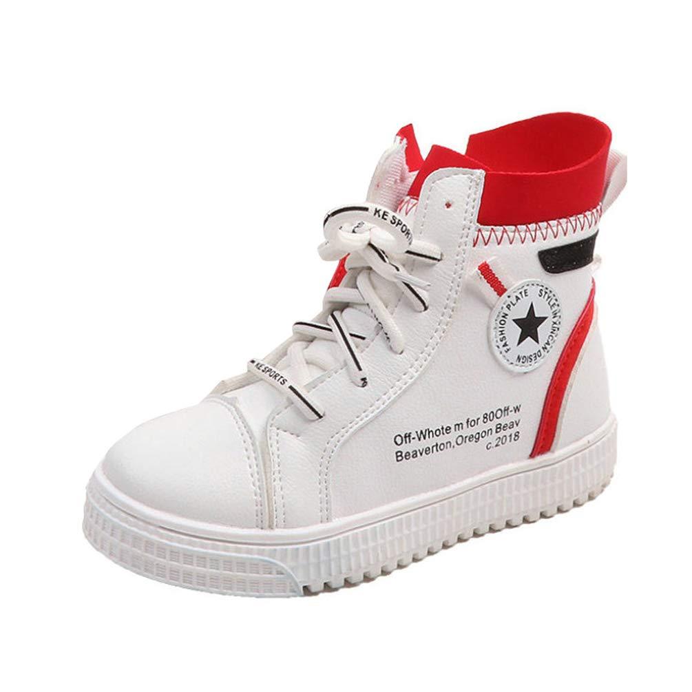 Unisex Kids Casual Shoes High Top Zapatillas de Deporte Moda Zip Lateral Grueso Parte Inferior Antideslizante Zapatos de Ocio al Aire Libre