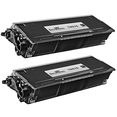 Speedy Inks - 2 Pack High-Yield Black Laser Toner Cartridge Compatible with Brother TN570 - DCP-8040, DCP-8040D, DCP-8045D, DCP-8045DN,HL-5100, HL-5130, HL-5140, HL-5140LT, HL-5150D, HL-5150DLT, HL-5170D, HL-5170DLT, HL-5170DN, HL-5170DNLT, HL-5170N, MFC-8120, MFC-8220, MFC-8440, MFC-8440D, MFC-8640D, MFC-8840, MFC-8840D, MFC-8840DN