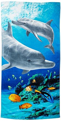 KAUFMAN - Tropical Dolphin Beach, Bath, Pool Towel (105061) Perfect for layin...