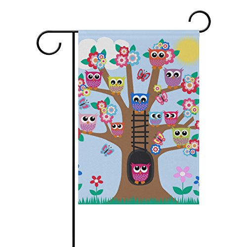 Chen Miranda A Tree Full Of Owls Double-Sided Polyester Garden Home Flag Banner for Party Home Outdoor Decor 28x40 inch