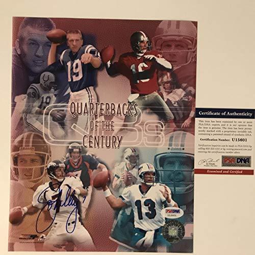 (Autographed/Signed John Elway Denver Broncos 8x10 Football Photo PSA/DNA COA)