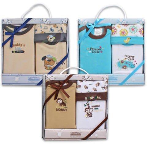 3 Pc Baby Embroidered Gift Set Cap Shirts 24 pcs sku# 1458855MA