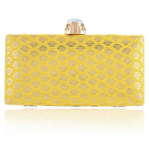 Damara Damara Minaudiere Gold Elegant Detail Lace Clutch Ladies Ladies Handbags rrf5qp