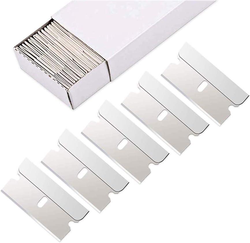 Myhonour 100 Stück Carbon Steel Single Edge Heavy Duty 1 5 Rasierklingen Für Standard Sicherheits Scraper Entfernen Von Farbe Und Abziehbilder Auto