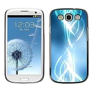 [Neutron-Star] Snap-on Series Teléfono Carcasa Funda Case Caso para Samsung Galaxy S3 [Resumen brillante Blanco brillante con estilo]