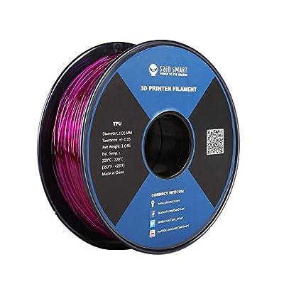 SainSmart 3.00mm Flexible TPU 3D Printing Filament, Dimensional Accuracy +/- 0.05 mm, 1 KG/2.2lbs Spool