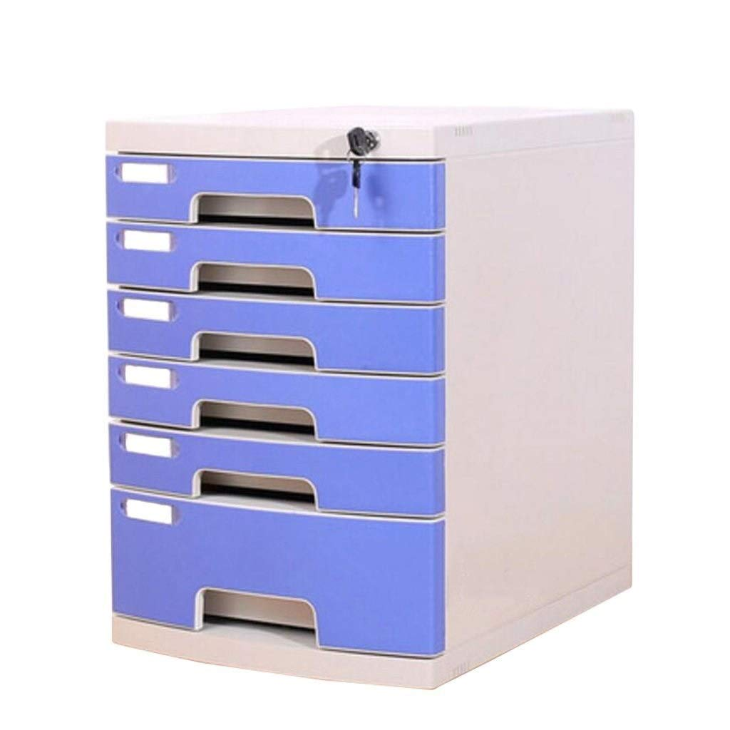 LBWT Desktop File Cabinet - with Lock Drawer Multi-Layer Locker Office Classification Storage Box Office/Home/Bank/Mall by LBWT