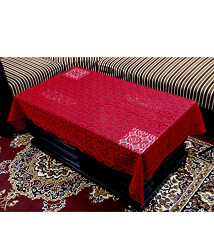 Kuber Industries™ Center Table Cover Maroon Cloth Net 40*60 Inches
