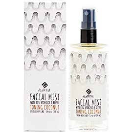 Alaffia - Coconut Reishi Facial Mist, Soothing Support to Restore and Balance Protective Layers of the Skin with Rose Hydrosol, Papaya, and Reishi Mushroom, Fair Trade, Toning Coconut, 3.4 Ounces 10 100% FAIR TRADE: Feel good about how you are getting your products with 100% Certified Fair Trade Ingredients. COCONUT, REISHI MUSHROOM AND SHEA: Fair trade, sustainable & wildcrafted ingredients from Alaffia cooperatives. BALANCE AND PROTECT: Contains relaxing rose hydrosol. Perfect for sensitive skin.