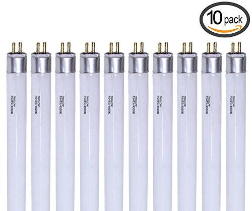T5 4100k Pentron High Output - TriGlow (Pack of 10) F54T5/841/HO 54-Watt T5 High Output 4100K Cool White Fluorescent Tube Light Bulbs