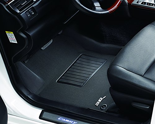 3D MAXpider Front Row Custom Fit All-Weather Floor Mat for Select Mazda6 Models - Kagu Rubber (Black)