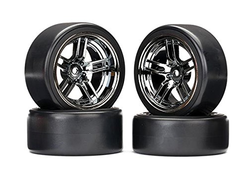 Traxxas 8378 Wheels with Drift Tires, Black