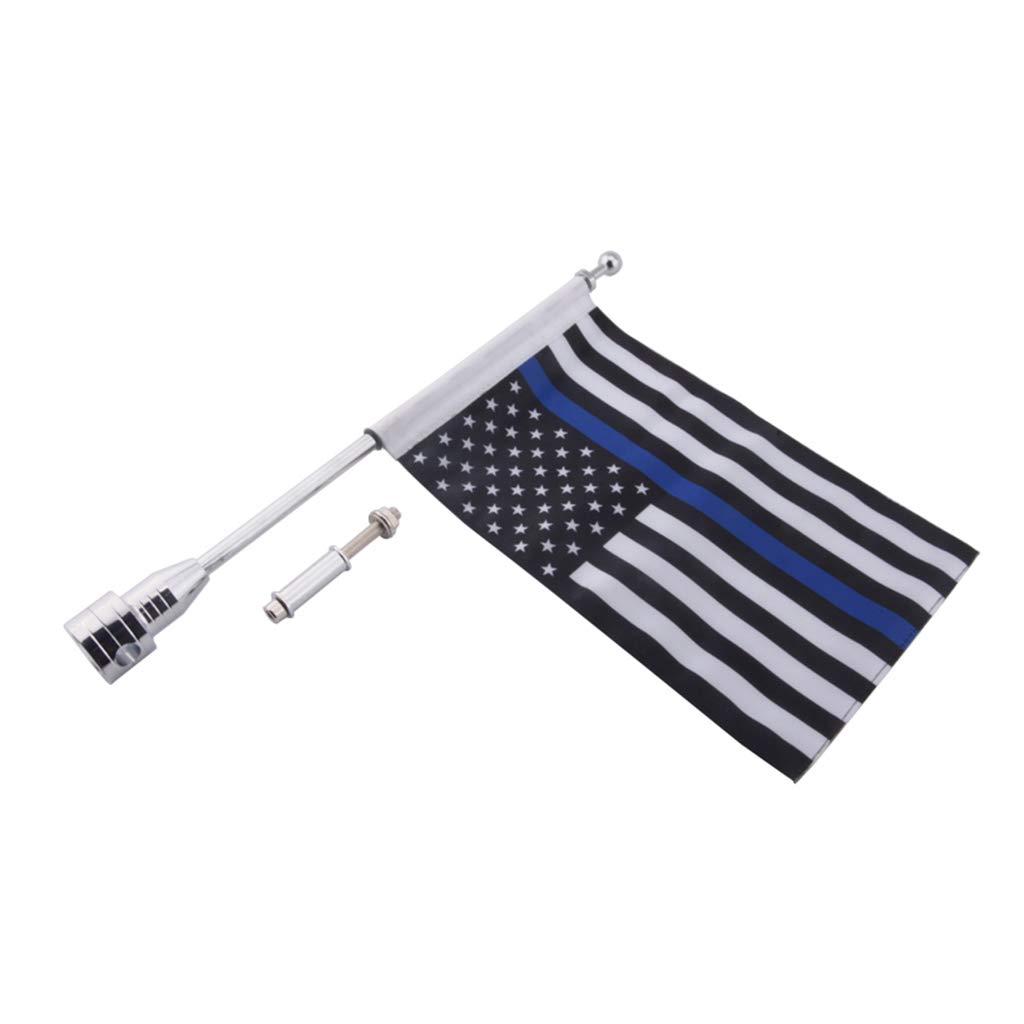 Porta Estacas Portaequipajes non-brand Bandera Americana de 10 Pulgadas X 7 Pulgadas Ajustable Color Azul