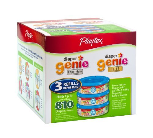 Price comparison product image Playtex Diaper Genie Refill (810 Count Total - 3 Pack of 270 Each)
