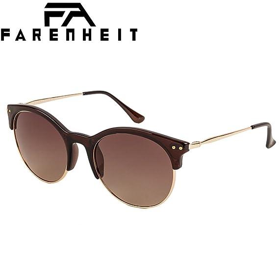 8fe38e2d972 Farenheit Polarized Round Women s Sunglasses - (SOC-FA-2339P-C1