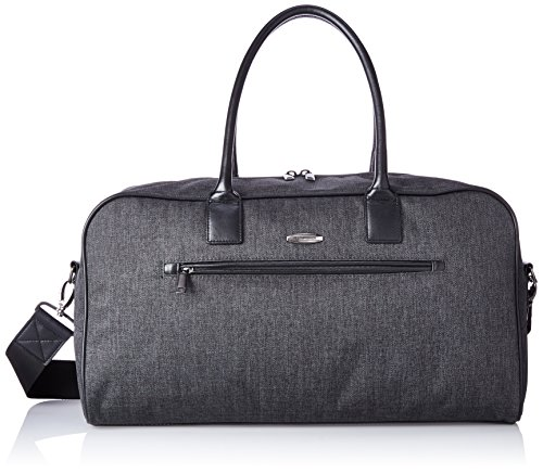 Pierre Cardin Crosby 19 Inch Duffle Bag, Herringbone/Black