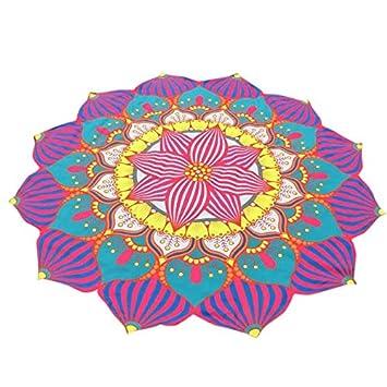 YOOMAT Beautiful Colorful Round Printing Tapestry Beach ...