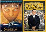 Billionaire Aviator & Money of Wall Street Wolf DVD Bundle Leonardo & Scorsese
