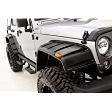 Rampage Jeep Products 7260630 Flat Style Fender Flare with Stainless Bolts for Jeep, 4 Piece (Smooth Finish)