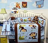 Best SoHo Designs Bed Skirts - SoHo Playful Monkey Baby Crib Nursery Bedding Set Review