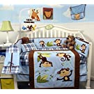 SoHo Playful Monkey Baby Crib Nursery Bedding Set 14 pcs