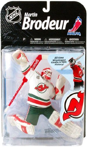 (McFarlane Toys NHL Sports Picks Series 22 2009 Wave 2 Action Figure Martin Brodeur (New Jersey Devils) Retro White Jersey Variant Super Chase)