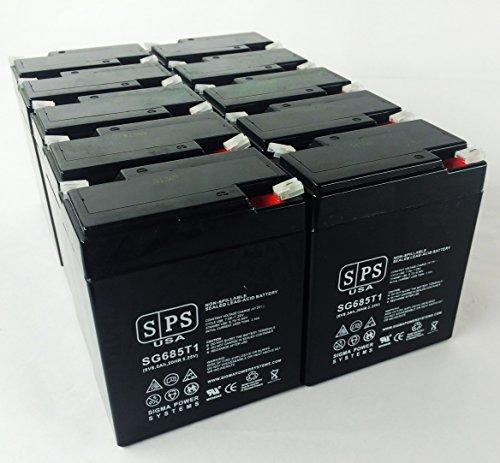 Siemens Gamma Camera LEM SLA Battery 6V 8.5Ah SPS Brand (12 Pack)