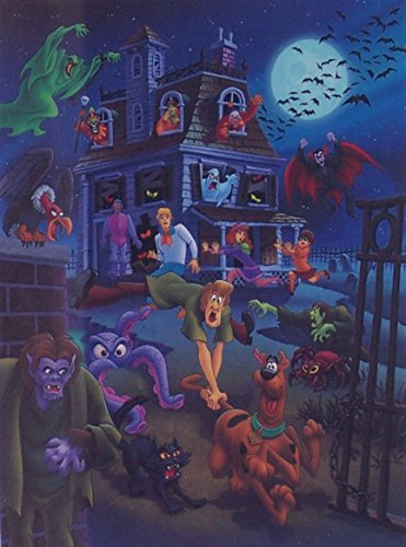 "Scooby-Doo and Gang in House Swarming Ltd Print Matted to 8"" x 10"" from Scooby-Doo"