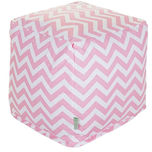 Cheap Majestic Home Goods Baby Pink Chevron Indoor Bean Bag Ottoman Pouf Cube 17″ L x 17″ W x 17″ H