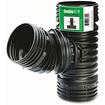 Flex-Drain ADP53702 Flexible T / Y, Landscaping Drain Pipe Adapter