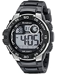 Men's 40/8343BLK Digital Chronograph Watch with Black Silicone Strap
