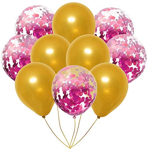 (Viet JK Wedding Decorations - Rose Gold Balloons Birthday Decorations for Party Kids Adult Confetti Balloon Wedding Inflatable Balon Birthday balonnen S7XN)