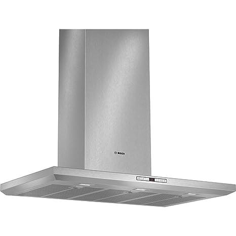Bosch DWB091U50 - Campana (Montado en pared, Canalizado/Recirculación, A+, LED, Acero inoxidable, Acero inoxidable)