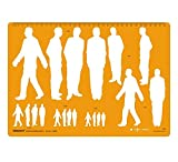 human figure stencil - Male Human Figure Template Drafting And Design Templates Stencil Symbols
