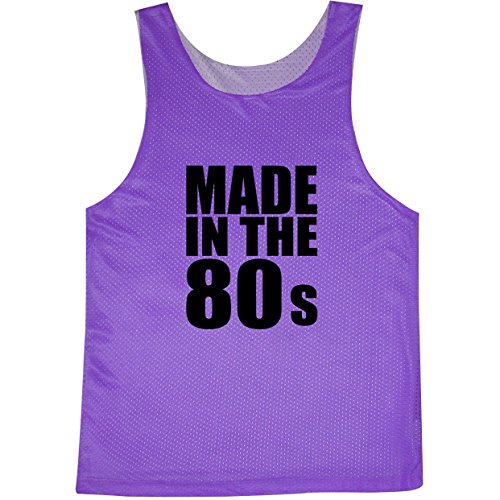 Made In The 80s Neon Purple Women's Reversible Mesh Tank - Small