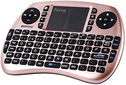RoadRoma 2.4G Teclado portátil inalámbrico de Mano touchpad ...