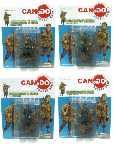 1:35 Combat Figure Series 6 German Infantry Hg Anzio 1944 Set Of 4
