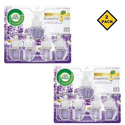 Air Wick Scented Oil 5 Refills, Lavender & Chamomile, (5X0.67oz), Air Freshener (Packaging May Vary) (10 Count)