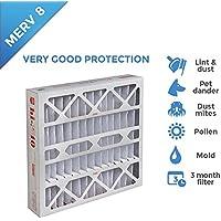24x24x4 MERV 8 AC Furnace 4 Inch Air Filters. Box of 4