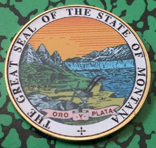 Montana State Seal - Montana State Seal Colorized Challenge Art Coin