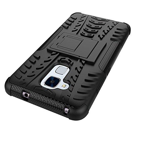 YAJIE-Carcasa Funda Para Huawei Honor 5C / Honor 7 Lite / Huawei GT3, nueva carcasa de doble armadura híbrida desmontable [Kickstand] 2 en 1 resistente a prueba de golpes cubierta de la caja ( Color : Purple