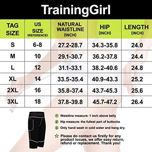 Women Weight Loss Hot Neoprene Sauna Sweat Pants with Side Pocket Workout Thighs Slimming Capris Leggings Body Shaper 9