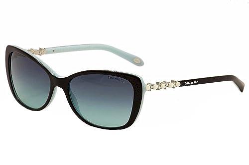 6999b41e73cc Tiffany   Co Women s 4103HB 4103-HB 8055 9S Black Blue Fashion Sunglasses  56mm  Amazon.ca  Shoes   Handbags