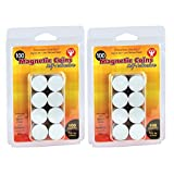 Hygloss 61402 Magnetic Coins-Self-Adhesive, 3/4-Inch Coins, 200, Black